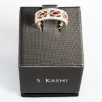 S. Kashi Ruby (0.34ct) and Diamond (0.31ct) rung, 14kt white and rose gold