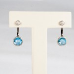 Asher Blue Topaz and Diamond earring jackets